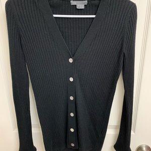 vince. black cardigan - small